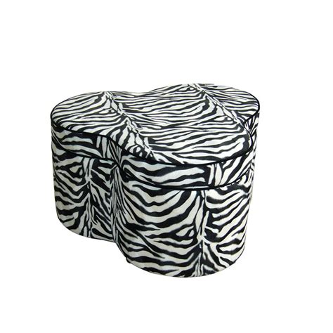 Zebra Storage Ottoman Ore International 17 5 Inch Zebra Storage Ottoman With Three Seating
