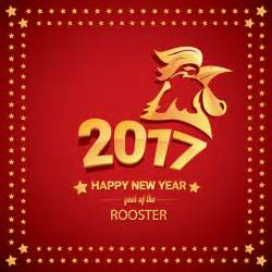 New year rooster 2017 vector graphics on chinese new year 2017