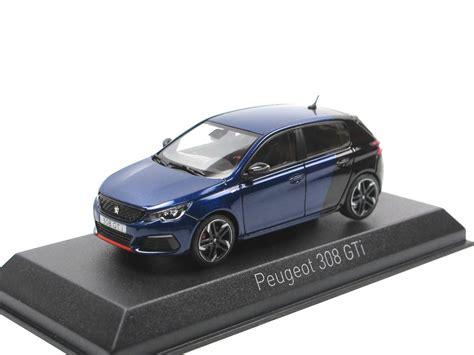peugeot 308 gti blue norev 2017 peugeot 308 gti coupe franche blue black 1 43