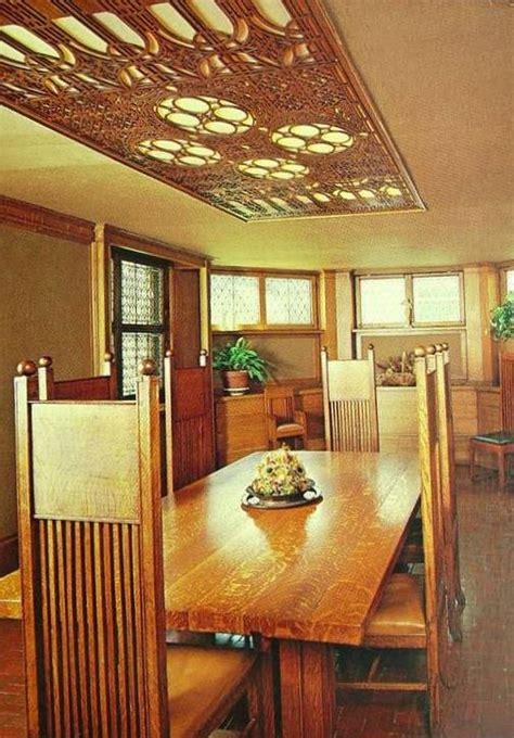 Dining Room And Studio Postcard Chicago Frank Lloyd Wright S Studio House