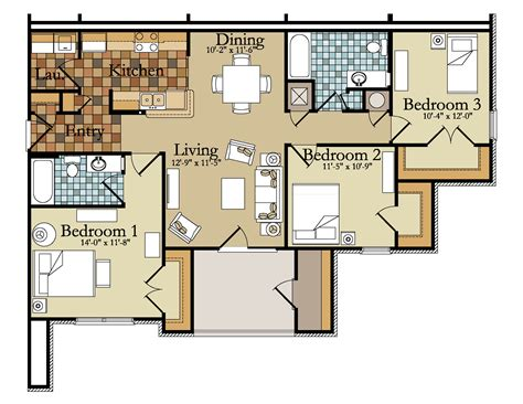 3 room flat floor plan 3 bedroom flats floor plans home deco plans
