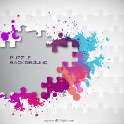 Free Business Report Template color splatter jigsaw background vector free download