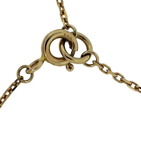 breil 18k yellow gold small disc pendant necklace