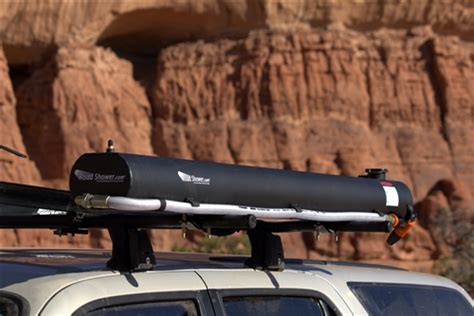 Road Shower by Road Shower Yakima And Thule Roof Rack Mounted Solar