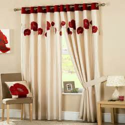 Red Duvets Curtina Danielle Red Lined Eyelet Curtains Debenhams