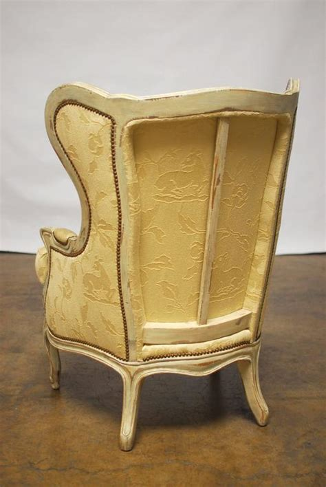 Bergere Chair And Ottoman Louis Xv Wingback Bergere Chair And Ottoman For Sale At 1stdibs