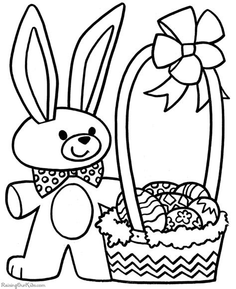 Easter Coloring Pages Free Printable printable easter coloring pages 005