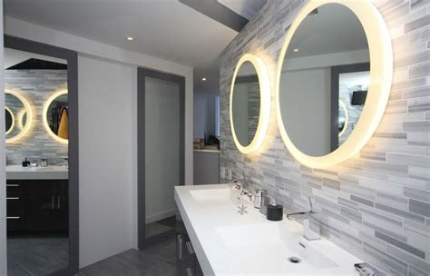 Modern Bathroom Mirrors With Lights How To A Modern Bathroom Mirror With Lights