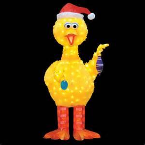 18 muppets sesame street big bird pre lit 3 d tinsel