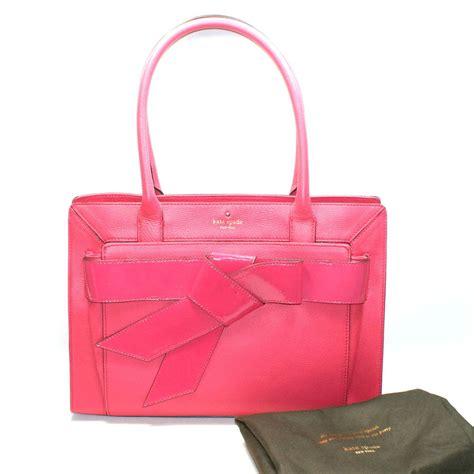 Kate Spade Helen Shoulder Bag by Kate Spade Helena Bow Valley Pink Leather Tote Shoulder