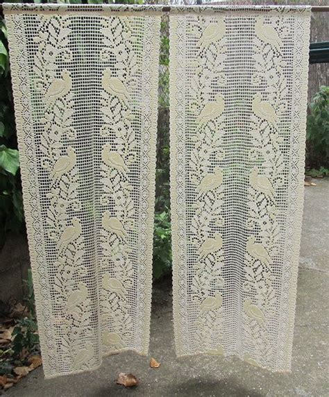 crochet lace curtain pattern ecru lace crocheted curtains french lace panels courtains