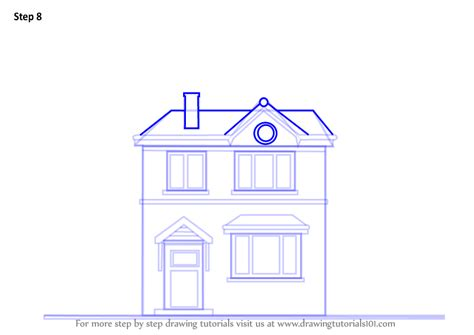 how to draw a house step by step buildings landmarks places step by step how to draw a house drawingtutorials101 com