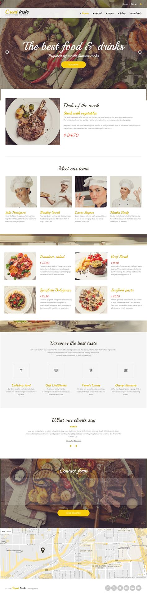 theme drupal restaurant great taste premium responsive restaurant drupal template