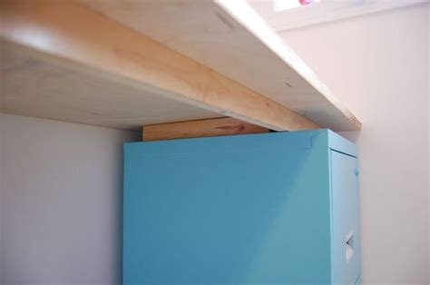 Diy Filing Cabinet Desk Diy File Cabinet Desk