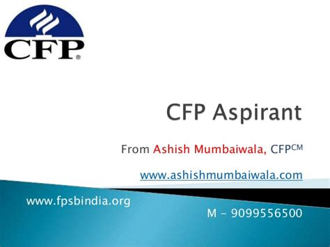 Mba Programs With Cfp by Cfp Aspirant Prsentaion Fo Mba Student
