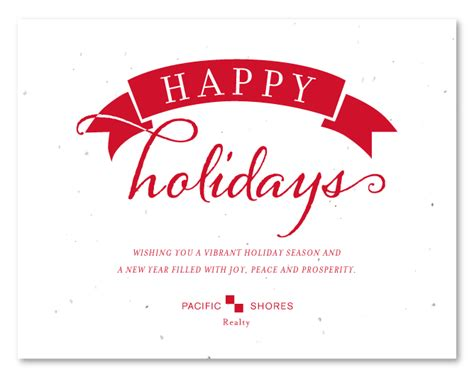happy holidays from company card template plantable business cards on seeded paper