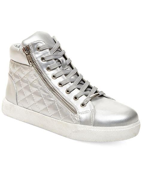 quilted platform sneakers steve madden decaf hightop quilted platform sneakers in