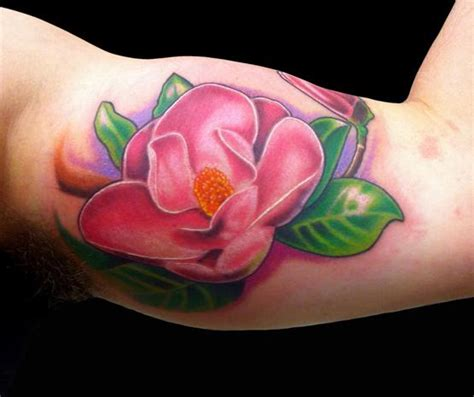 tattoo magnolia flower pink magnolia flower by marc durrant tattoonow