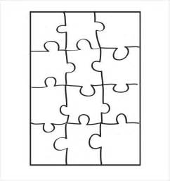 puzzle template 19 free psd png pdf formats