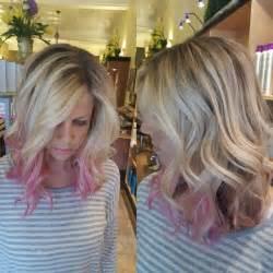 Pink Highlight On The End Tween | best 20 pink blonde hair ideas on pinterest rose blonde