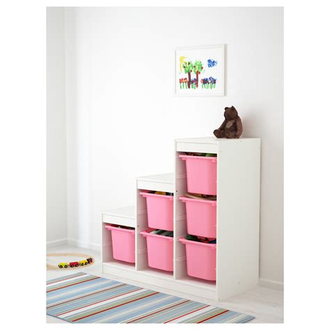 trofast storage combination white pink 99x44x94 cm ikea