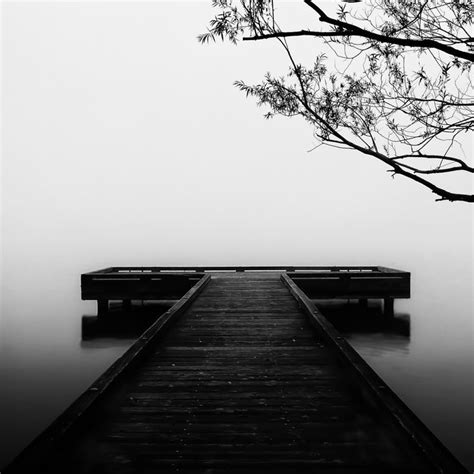 The Far Side Of Silence black and white dock silence black and