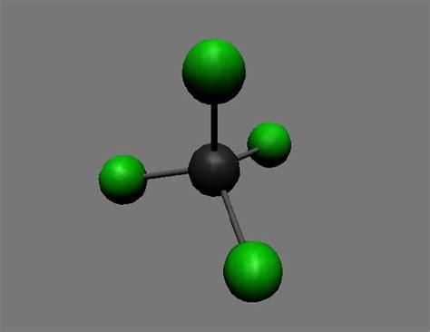 Carbon tetrachloride molecule - (TLF R6944 v5.0.0) Carbon Tetrachloride Molecule
