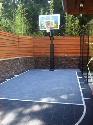 backyard basketball court outdoor basketball court