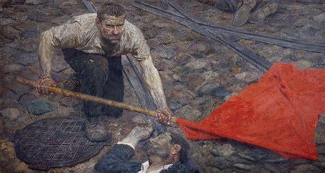 raising  banner  art  geli korzhev