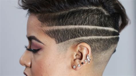 haircut designs ladies short shaved head girls haircuts women get badass shaved