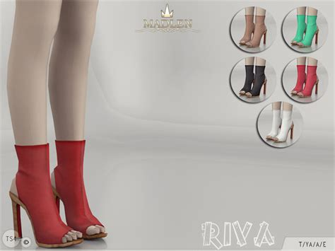 sims 4 shoes the sims resource the sims resource madlen riva boots by mj95 sims 4