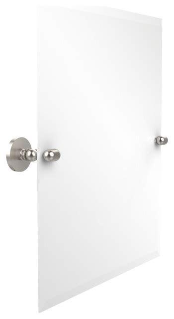 rectangular tilt bathroom mirror polyvore 21 quot x26 quot rectangular tilt mirror satin nickel