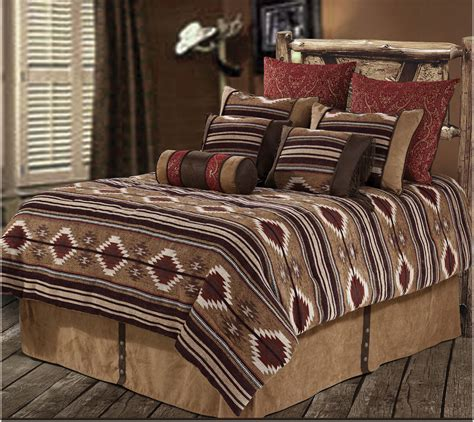 western bedding sets queen rwba9184 sq navaho western 7 piece bedding set