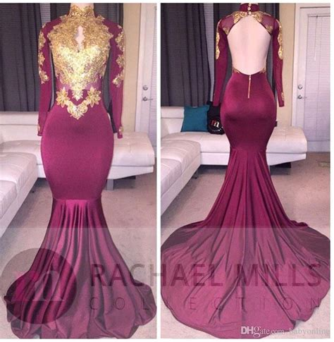 puffy 3d lolicon images 2017 african burgundy long sleeve gold lace prom dresses