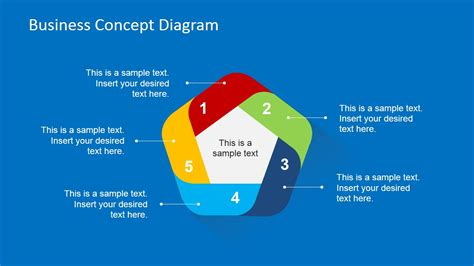 business diagrams 5 step cycle business concept slide design slidemodel