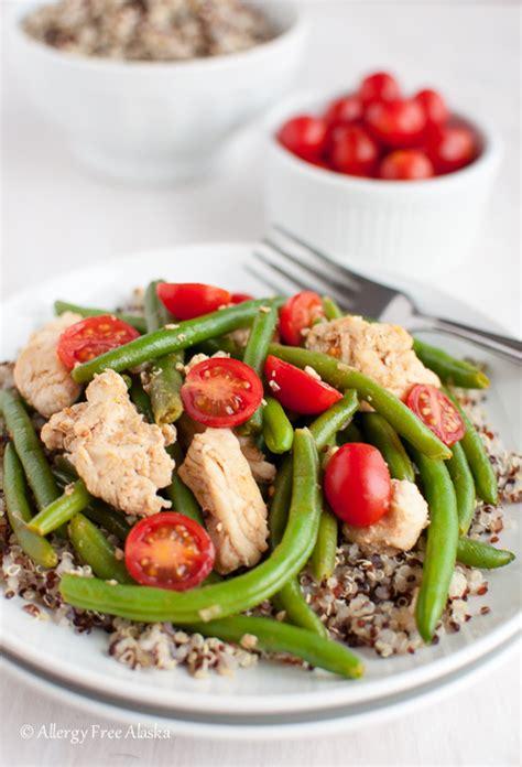 smokey chicken  green beans  quinoa