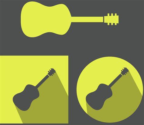 design guitar online yellow guitar icons vector design free vector in adobe