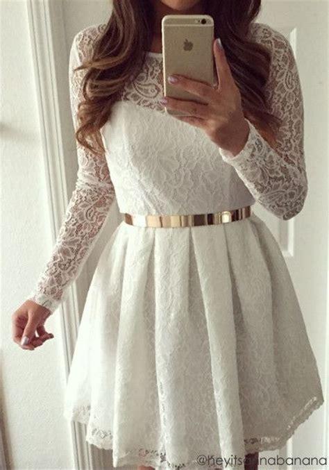 rehearsal dress idea white lace dress short short