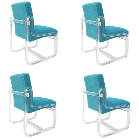 set of four acrylic dining chairs by vivid for sale at 1stdibs set of four acrylic dining chairs by vivid for sale at 1stdibs