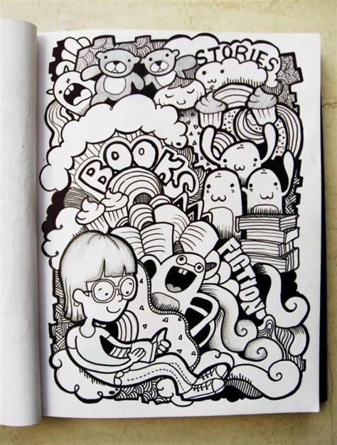 draw doodle design book doodle on