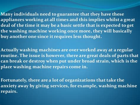 Benefits Of Building High Quality Benefits Of High Quality Washing Machine Repair