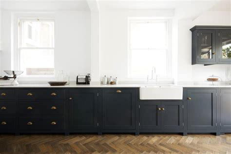 Devol Kitchens by Pantry Blue And Parquet A Match Devol Kitchens