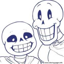sans templates sans and papyrus undertale coloring pages printable