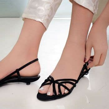 Sale Sendal High Heels T14 Black what shoes to use with white dress