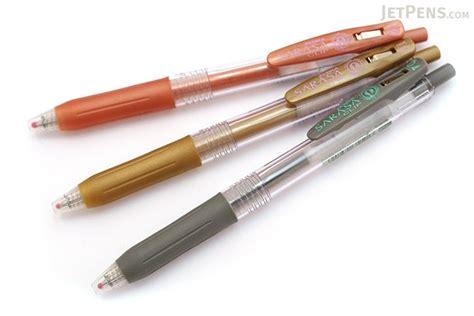 Zebra Mm Pen 0 1 zebra sarasa push clip gel pen 1 0 mm copper jetpens