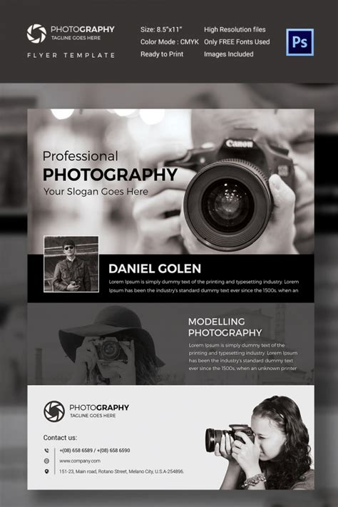 templates for photography flyers photography flyer template 41 free psd format download