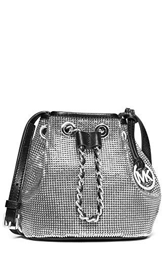 Michael Kors Mesh Hobo Purse by Michael Michael Kors Frankie Silver Mesh Black Leather