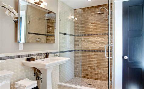 brown subway tile bathroom contemporary bathroom