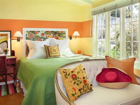 yellow orange bedroom bring energy to your home with paint hgtv design