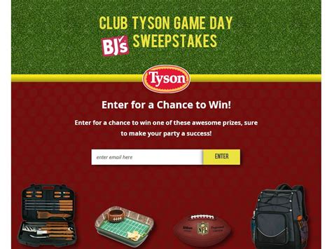 Sweepstakes Club - the club tyson game day bj s sweepstakes sweepstakes fanatics